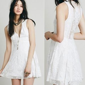 Free People | Embroidered Mesh Reign Over Me Dress